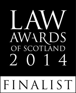 Law Awards Scotland Finalist 2014